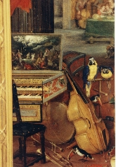 breughel detail, note the non-aligned keyboards